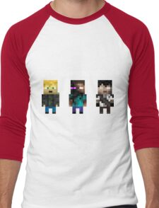 The Haunted - Pixelated Men's Baseball ¾ T-Shirt