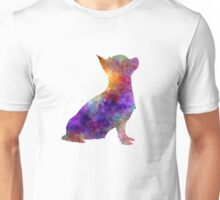 Chihuahua 01 in watercolor Unisex T-Shirt
