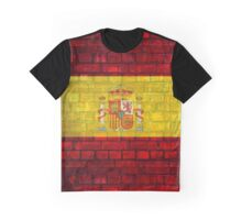 Spain flag painted on a brick wall in an urban location Graphic T-Shirt