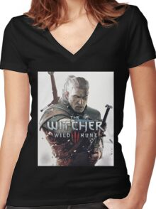 the witcher Women's Fitted V-Neck T-Shirt