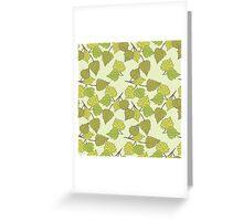 Birch leaves Greeting Card