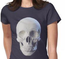 Skull facet dark Womens Fitted T-Shirt