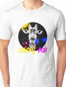 SAFARI COLORS POP - GIRAFFE Black Edition Unisex T-Shirt