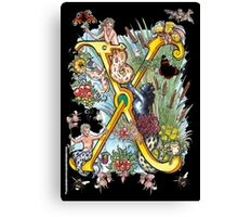 """The Illustrated Alphabet Capital  X  """"Getting personal"""" from THE ILLUSTRATED MAN Canvas Print"""