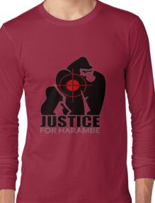 Justice For Harambe Long Sleeve T-Shirt