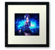 touka blue electric Framed Print
