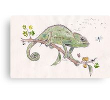 The colourful world of Chameleons Canvas Print