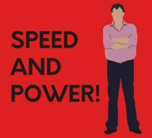 "Jeremy Clarkson ""Speed and power!"" original design Kids Tee"