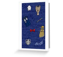 DOCTOR WHO 2 Greeting Card