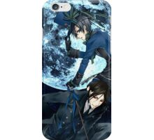 full moon with ciel and bassy  iPhone Case/Skin