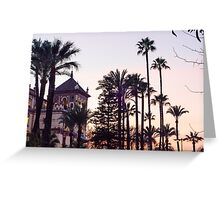 A winter sunset in Spain - Seville Greeting Card