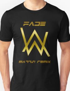 ALAN WALKER FADE BLACK GOLD Unisex T-Shirt