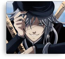 the undertakers grin Canvas Print