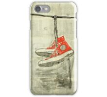 Wire and sneakers.  iPhone Case/Skin