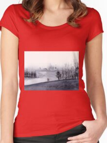 Mist Women's Fitted Scoop T-Shirt