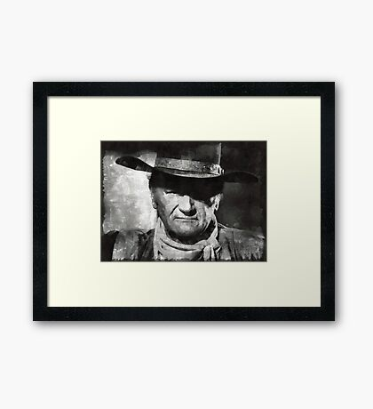 John Wayne Hollywood Actor Framed Print