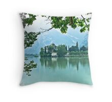 ... romantic fairytale-like fortress, Lake Toblino, Trento, Italy ~ 2 ~ Throw Pillow