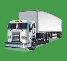 Cartoon Semi Truck Baby Tee