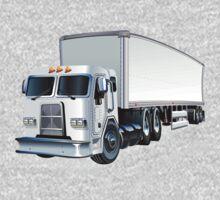 Cartoon Semi Truck One Piece - Short Sleeve