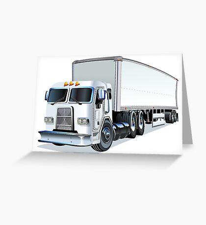 Cartoon Semi Truck Greeting Card