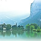... romantic fairytale-like fortress, Lake Toblino, Trento, Italy ~ 1 ~ by Rachel Veser