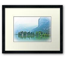 ... romantic fairytale-like fortress, Lake Toblino, Trento, Italy ~ 1 ~ Framed Print