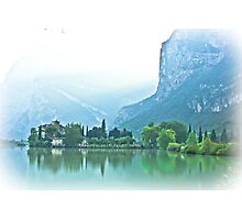 ... romantic fairytale-like fortress, Lake Toblino, Trento, Italy ~ 1 ~ Photographic Print