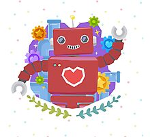 A Cute Robot Photographic Print