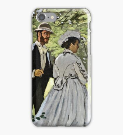 Claude Monet - Bazille And Camille 1865  iPhone Case/Skin