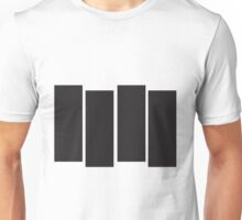Black Flag Logo Bars Only Unisex T-Shirt