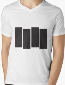 Black Flag Logo Bars Only Mens V-Neck T-Shirt
