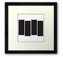 Black Flag Logo Bars Only Framed Print