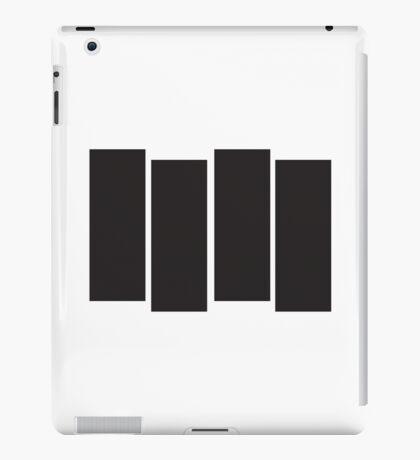 Black Flag Logo Bars Only iPad Case/Skin