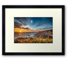 Cornwall Coastline at Sunset Framed Print