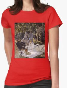 Claude Monet - Bathers At La Grenouillere 1865  Womens Fitted T-Shirt