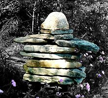 Inukshuk - Someone was here! by Rosemary Sobiera