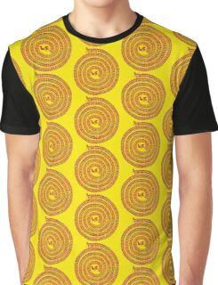 Psychedelic Warli Spiral Graphic T-Shirt