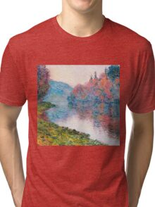 Claude Monet - Banks Of The Seine At Jenfosse Clear Weather Tri-blend T-Shirt