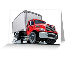 Cartoon delivery cargo truck Greeting Card