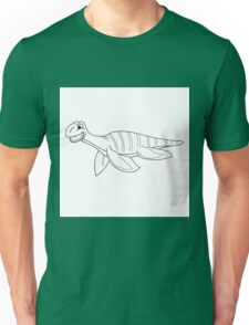 Black and white plesiosaur Unisex T-Shirt