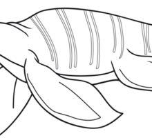 Black and white plesiosaur Sticker