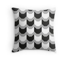 Cat Tooth pattern by Lucinda Kidney Throw Pillow