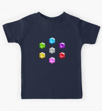 Sonic 2 Emeralds Kids Tee