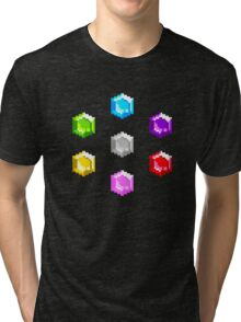 Sonic 2 Emeralds Tri-blend T-Shirt