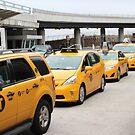 Big Yellow NY taxis by Jonesyinc
