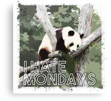 Panda hates Mondays Canvas Print
