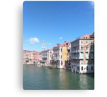 Water Canal Canvas Print