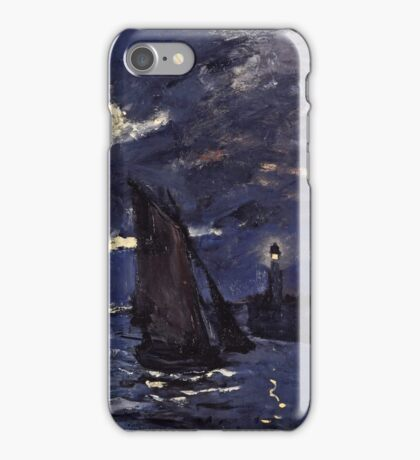 Claude Monet - A Seascape, Shipping by Moonlight (1864)  iPhone Case/Skin