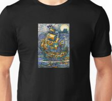 "MYSTICMATRIX ""Draculas ship at Whitby Abbey""  Unisex T-Shirt"