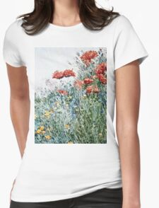 Childe Hassam - Poppies, Appledore  Womens Fitted T-Shirt